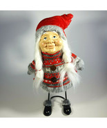 Mrs Claus Gnome Large Stuffed Plush Christmas Standing Holiday Tomte Spr... - $38.88