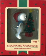 """Hallmark Cards 1972 P EAN Uts """"Snoopy And Woodstock"""" Handcrafted Ornament - $13.36"""