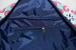 Viv Lou M440VLMIA Mia Tile Travel Bag Lime Green Pink and Navy Blue image 5