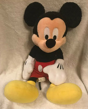 Disney Plush Mickey Mouse 18 inch Disneyland Parks Authentic California - $15.41