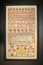 Grace Risk 1848 Antique Sampler Reproduction cross stitch chart Samplers Revisit - $14.40