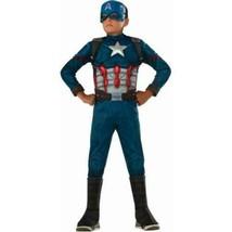Boys Marvel Captain America Metallic Muscle 3-D Boot Top Halloween Costume-12/14 - $29.70