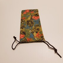 Maui Jim tropical floral cleaning cloth pouch drawstring bag size 7 1/4x... - $8.00