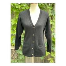 Vintage Tabi Virgin Merino Wool Cardigan Black Sz S - $58.41