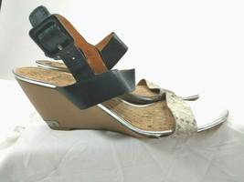 Sam Edelman Women's 'Sutton' Wedge Sandal Saddle Leather Snake Print Size 11 M - $28.01