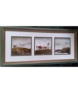 DOUG  BREGA  3  LIGHTHOUSE  IMAGES  IN  ONE  PHOTOGRAPH  FRAME - $20.00