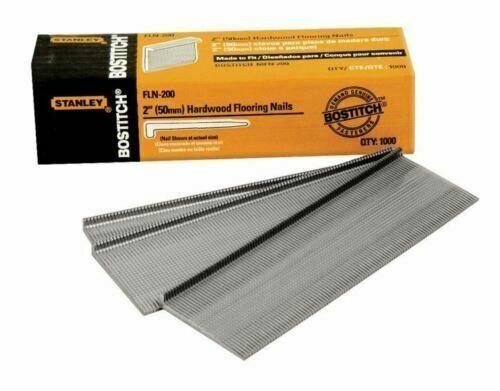 """Stanley Tools Bostitch Fln-200 hardwood flooring L Nail 1000 Per Box 2"""" cleat - $29.67"""