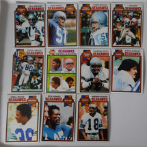 1979 Topps Seattle Seahawks Team Set of 11 Football Cards - $15.00