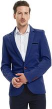 Pishon Men'S Slim Fit Suits Casual One Button Flap Pockets Solid Blazer ... - $42.76