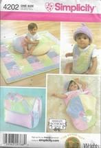 Simplicity Pattern #4202-Shirley Botsford-Baby Accessories-Bag-Wrap-Bib-... - $4.95