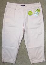 New Lee 8 M Crop Pant Natural Fit Capris Pink Cotton Stretch - $20.55
