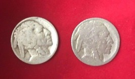 Lot of 2 No Date Visible Philadelphia Mint Buffalo Nickel - $6.49
