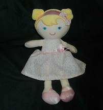 Carter's Just One You # 63200 Blonde Doll Pink Dress Rattle Stuffed Animal Plush - $28.05