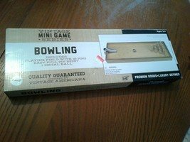 VINTAGE MINI GAME SERIES BOWLING GAME FOR DESK or TABLETOP with EASY PUL... - $18.69