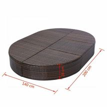 """vidaXL Sunlounger with Cushion Poly Rattan 78.7"""" Lounge Beds Seat Black/Brown image 8"""