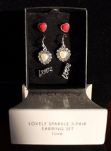 Lovely Sparkle 3 Pair Earring Gift Set by Avon - $13.49