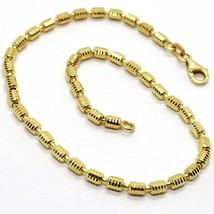 18K YELLOW GOLD BRACELET, 19 CM, 7.5 INCHES, DIAMOND CUT 3 MM TUBE LINK image 1