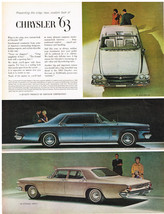 Vintage 1963 Magazine Ad Chrysler Crisp Simplicity of Line Formal Look & Flair - $5.93