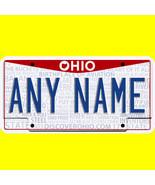 Ride-on battery power wheels car license plate - custom Ohio design  - $8.99