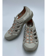 Skechers 7.5 Reggea Fest Dory Shoes Taupe Coral Relaxed Fit Memory Foam - $27.99