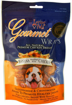 Gourmet Wraps For Dogs Natural Vitamin Health Resealable Bag Banana Chic... - $14.90