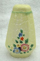 Antique English Cottage Garden Yellow Floral Pottery Sugar Shaker Sweet SHP - $54.45