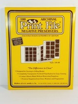 New Print File 35-7B 35mm Archival Negative Preservers 100 Count - $34.18