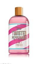 Bath & Body Works Christmas Shop Twisted Peppermint 2in1 Bubble Bath & W... - $14.24