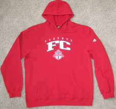 New Adidas Toronto Fc F.C. Hooded Sweatshirt Track Jacket L Large Mls Soccer Red - $37.39