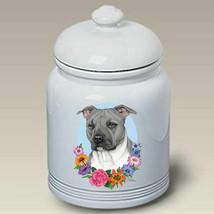 Pit Bull Terrier Blue Treat Jar - $44.95