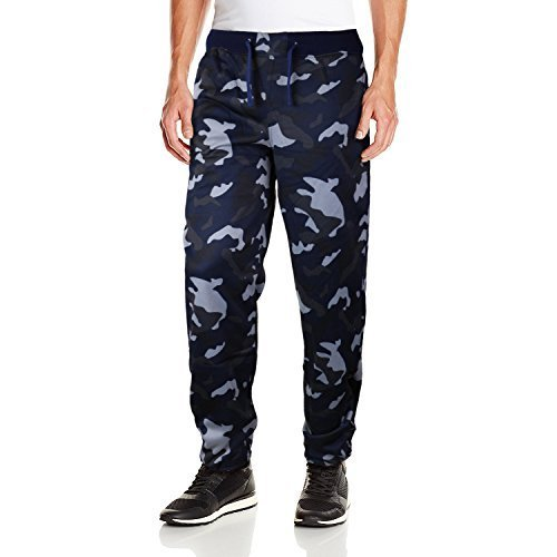 Five Elementz Men's Work Out Gym Camouflage Jogger Sweat Pants (Medium, Navy Cam