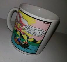 Vintage Far Side Coffee Mug Atomic Bomb Fishing Screw The Limit 1986 Gar... - $24.67