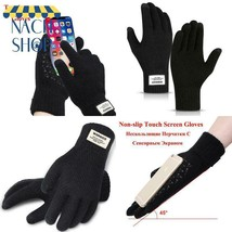 Winter Men Knitted Gloves Women Touchscreen Gloves Warm Stretch Men Knit... - $6.15