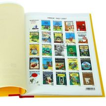 25 timbres a la une Limited edition and numbered French Tintin official product image 3