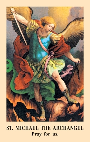 Prayer to st. michael prayercard