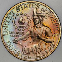 1976-S WASHINGTON BICENTENNIAL QUARTER 25 CENTS AMAZING REVERSE TONED PR... - $197.99