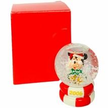 Mickey Mouse snowglobe figurine Disney NOB box Christmas holiday toy lis... - $24.70