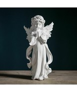 Calm Child Angel Guard Statue Resin Baby Figurine Modern Art Nordic Home... - $80.18