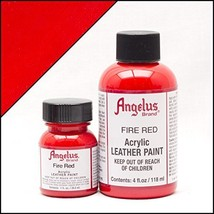 Angelus Acrylic Paint 1 Oz. (Fire Red) - $6.59