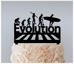 Wedding,Birthday Cake topper,Cupcake topper,funny evolution,surfers : 11 pcs - $20.00