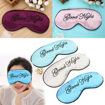 Soft Good Night Embroidered Eyeshade Cover Eye Mask Sleeping Blindfold E... - $3.49 CAD