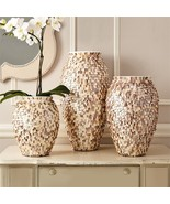 Tozai Home Shingles Set of 3 Mother of Pearl Vases - $781.11