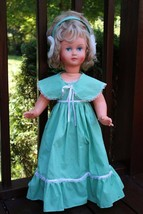 "Large Hard Plastic Blond Sleepy Blinking Eye 30"" Standing Sitting Doll - $118.79"