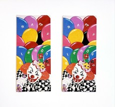 Vintage American Celebrations Creepy Clown Happy Birthday Greeting Cards... - $8.90
