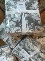 Pottery Barn Talisa Duvet Cover Set Gray Queen 2 Standard Sham Damask Me... - $142.39
