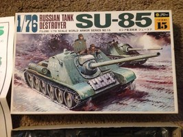 FUJIMI 1/76 scale Russian Tank Destroyer SU-85 model RR HO Compatible kit. - $18.81
