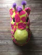 Justice plush giraffe animal head wall Safari h... - $15.47