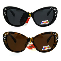 Antiglare Polarized Rhinestone Bling Thick Plastic Cat Eye Diva Sunglasses - $12.95