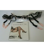 Shirley of Hollywood Garter Belt & Stockings Size L/XL Style 25285 Black... - $14.80