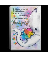Autism Elephant I Will Speak For You I Will Fight For You Canvas .75in F... - $25.00+